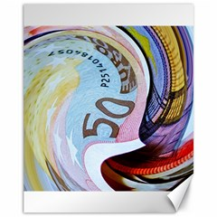 Abstract Currency Background Canvas 11  X 14