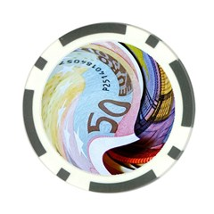 Abstract Currency Background Poker Chip Card Guard