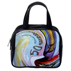 Abstract Currency Background Classic Handbags (one Side)