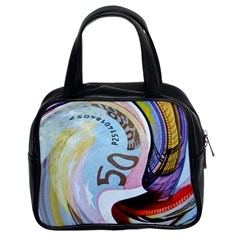 Abstract Currency Background Classic Handbags (2 Sides)