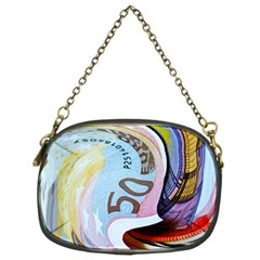 Abstract Currency Background Chain Purses (one Side)