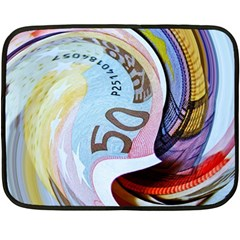 Abstract Currency Background Double Sided Fleece Blanket (Mini)