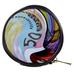 Abstract Currency Background Mini Makeup Bags
