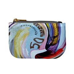 Abstract Currency Background Mini Coin Purses