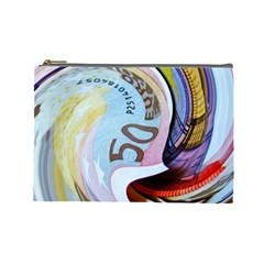 Abstract Currency Background Cosmetic Bag (large)