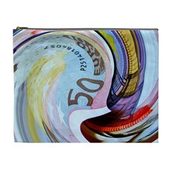 Abstract Currency Background Cosmetic Bag (xl)