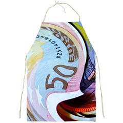 Abstract Currency Background Full Print Aprons