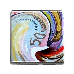 Abstract Currency Background Memory Card Reader (square)