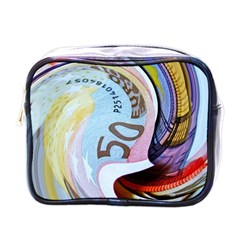 Abstract Currency Background Mini Toiletries Bags