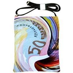 Abstract Currency Background Shoulder Sling Bags