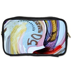 Abstract Currency Background Toiletries Bags