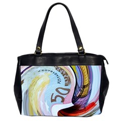 Abstract Currency Background Office Handbags (2 Sides)