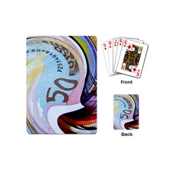 Abstract Currency Background Playing Cards (mini)