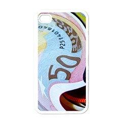 Abstract Currency Background Apple iPhone 4 Case (White)