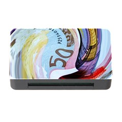 Abstract Currency Background Memory Card Reader With Cf