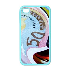 Abstract Currency Background Apple Iphone 4 Case (color)
