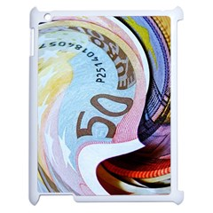 Abstract Currency Background Apple Ipad 2 Case (white)