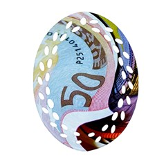 Abstract Currency Background Oval Filigree Ornament (two Sides)