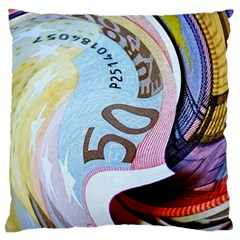 Abstract Currency Background Large Cushion Case (one Side)