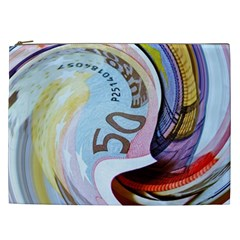 Abstract Currency Background Cosmetic Bag (xxl)