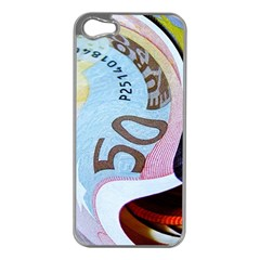 Abstract Currency Background Apple Iphone 5 Case (silver)