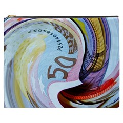 Abstract Currency Background Cosmetic Bag (xxxl)