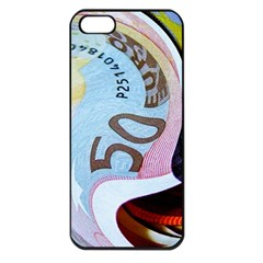 Abstract Currency Background Apple Iphone 5 Seamless Case (black)