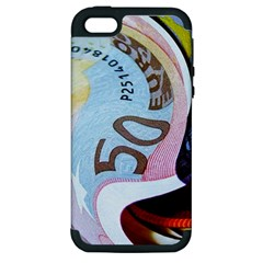 Abstract Currency Background Apple Iphone 5 Hardshell Case (pc+silicone)