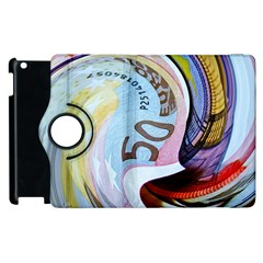 Abstract Currency Background Apple Ipad 3/4 Flip 360 Case