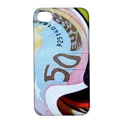 Abstract Currency Background Apple Iphone 4/4s Hardshell Case With Stand