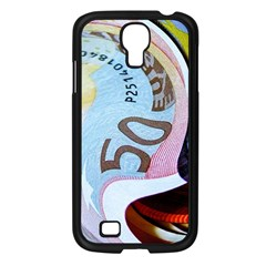 Abstract Currency Background Samsung Galaxy S4 I9500/ I9505 Case (black)