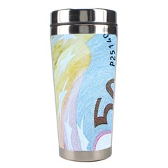 Abstract Currency Background Stainless Steel Travel Tumblers