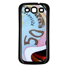 Abstract Currency Background Samsung Galaxy S3 Back Case (black)