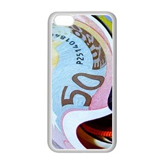Abstract Currency Background Apple Iphone 5c Seamless Case (white)