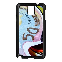 Abstract Currency Background Samsung Galaxy Note 3 N9005 Case (black)