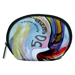 Abstract Currency Background Accessory Pouches (medium)