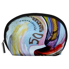 Abstract Currency Background Accessory Pouches (large)