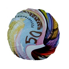 Abstract Currency Background Standard 15  Premium Flano Round Cushions