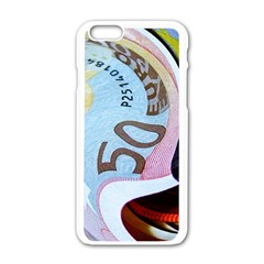 Abstract Currency Background Apple Iphone 6/6s White Enamel Case