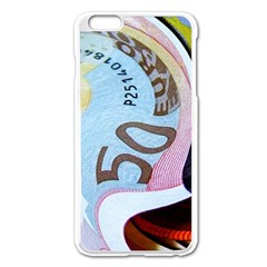 Abstract Currency Background Apple Iphone 6 Plus/6s Plus Enamel White Case