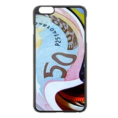 Abstract Currency Background Apple Iphone 6 Plus/6s Plus Black Enamel Case