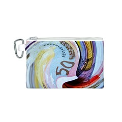 Abstract Currency Background Canvas Cosmetic Bag (s)