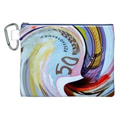 Abstract Currency Background Canvas Cosmetic Bag (xxl)