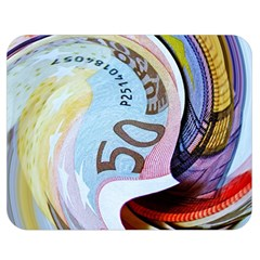 Abstract Currency Background Double Sided Flano Blanket (medium)