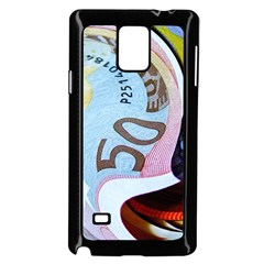 Abstract Currency Background Samsung Galaxy Note 4 Case (black)