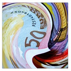 Abstract Currency Background Large Satin Scarf (square)
