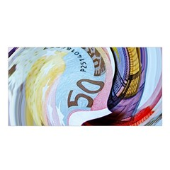 Abstract Currency Background Satin Shawl