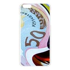 Abstract Currency Background Apple Seamless iPhone 6 Plus/6S Plus Case (Transparent)
