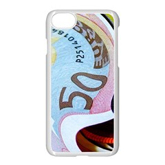 Abstract Currency Background Apple Iphone 7 Seamless Case (white)