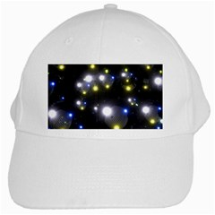 Abstract Dark Spheres Psy Trance White Cap